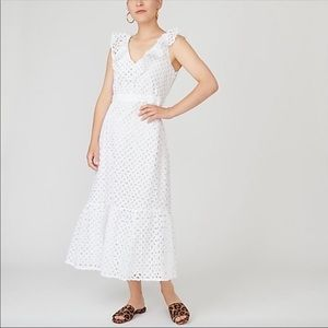 NWT J.Crew Tiered Midi Dress Embroidered Eyelet
